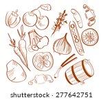 illustration of hand drawn... | Shutterstock .eps vector #277642751