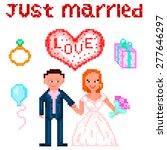 set in style pixel art  wedding ...   Shutterstock .eps vector #277646297