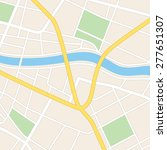 square vector map with river  ... | Shutterstock .eps vector #277651307