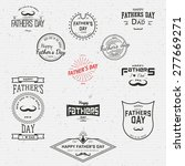 fathers day badges logos and... | Shutterstock .eps vector #277669271