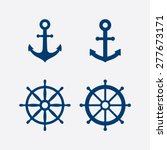 ������, ������: Anchors and steering wheel