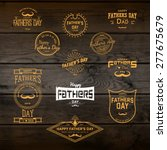 fathers day badges logos and... | Shutterstock .eps vector #277675679