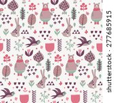 sweet seamless pattern with... | Shutterstock .eps vector #277685915