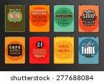 set of vintage poster  flyer ... | Shutterstock .eps vector #277688084