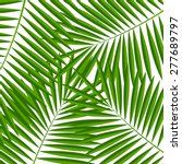palm leaf  background vector... | Shutterstock .eps vector #277689797