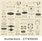 set of calligraphic elements...   Shutterstock .eps vector #277690034