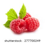fresh raspberries isolated on... | Shutterstock . vector #277700249