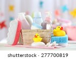 baby accessories for bathing on ... | Shutterstock . vector #277700819