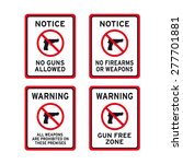 no guns firearms or weapons...