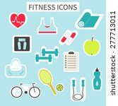 fitness  and sport colorful... | Shutterstock .eps vector #277713011