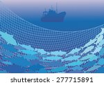 silhouettes of the fishing... | Shutterstock .eps vector #277715891