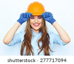 toothy smiling business woman...   Shutterstock . vector #277717094
