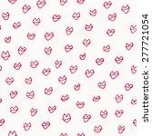 hand drawn lips pattern. vector ... | Shutterstock .eps vector #277721054