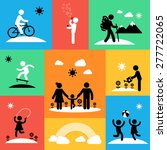 summer travel icons with adults ... | Shutterstock .eps vector #277722065