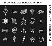 old school tattoo icon set | Shutterstock .eps vector #277725095