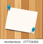 white paper and pushpins on... | Shutterstock .eps vector #277726301