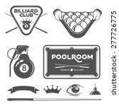 billiard set of vector design...