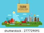 natural food. farm and city....