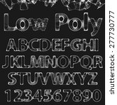 lowpoly outline fonts and... | Shutterstock .eps vector #277730777