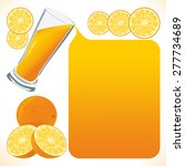 orange juice flows out and... | Shutterstock . vector #277734689