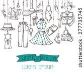 fashion illustration.vector... | Shutterstock .eps vector #277735745