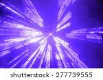 bright blue spotlight or strobe ...   Shutterstock . vector #277739555