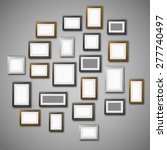 gallery wall with many blank... | Shutterstock .eps vector #277740497