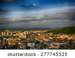 brasov in a spring evening... | Shutterstock . vector #277745525