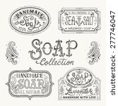 hand drawn labels and patterns... | Shutterstock .eps vector #277746047