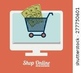 shopping online design over... | Shutterstock .eps vector #277750601