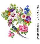 wild pheasant animals birds in... | Shutterstock .eps vector #277753751
