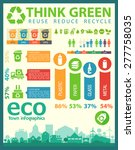 think green  infographics...