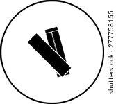 chewing gum sticks symbol | Shutterstock .eps vector #277758155