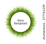 Circle Frame With Green Grass....