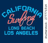california long beach surfing... | Shutterstock .eps vector #277771514