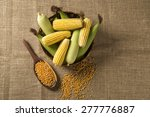 corn maize and popcorns... | Shutterstock . vector #277776887