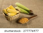 corn maize and popcorns... | Shutterstock . vector #277776977
