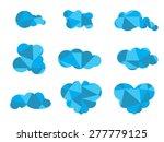 the geometric cloud | Shutterstock . vector #277779125