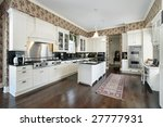 white kitchen with island | Shutterstock . vector #27777931