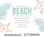 summer beach party invitation... | Shutterstock .eps vector #277784939