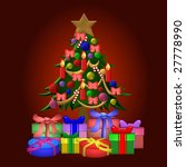 colorful christmas tree with... | Shutterstock . vector #27778990