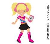 cute girl vector illustration  | Shutterstock .eps vector #277790387