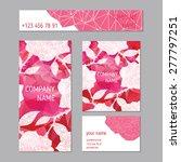set of greeting or invitation... | Shutterstock .eps vector #277797251