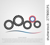 gear logotype. cog wheel icon.... | Shutterstock .eps vector #277800191