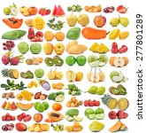 set of fruit isolated on white... | Shutterstock . vector #277801289