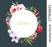 watercolor vector frame with... | Shutterstock .eps vector #277808855