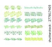 green floral leaf border...   Shutterstock .eps vector #277817405