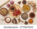 rajasthani food ingredients | Shutterstock . vector #277819241