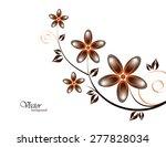 vector branch of orange flowers. | Shutterstock .eps vector #277828034