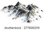Snowy MountSnowy Mountains - Mountain Peak - separated on white white Background